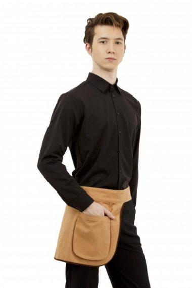 Рубашка мужская с длинными рукавами Черная