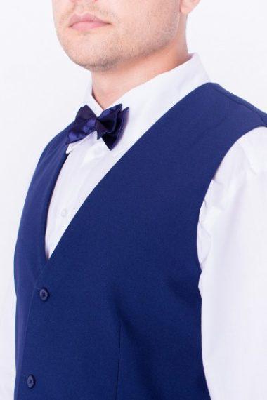 Галстук-бабочка двойная синяя для официанта