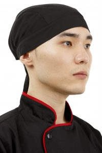 Бандана с резинкой для кулинара Чёрная