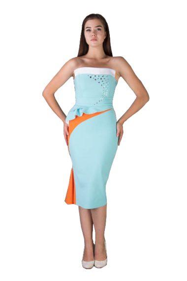 Платье Небесный сапфир для промоутеров