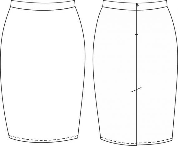 Юбка на поясе (для стрейчевой ткани)