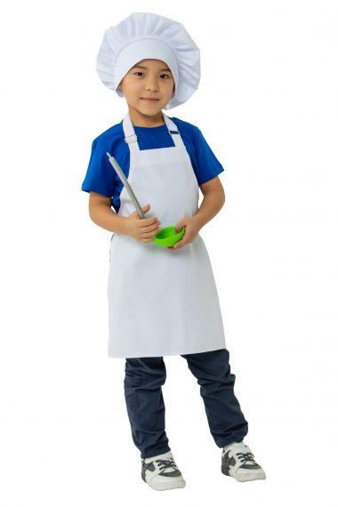 Фартук детский Белый для кулинарной студии