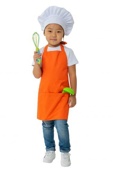 Фартук детский Оранжевый для кулинарной студии
