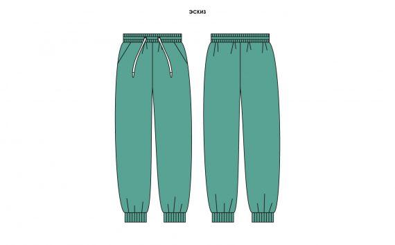 Спортивные трикотажные женские брюки