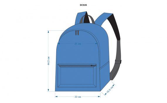 Рюкзак для промоутеров 33х44,5х16,5 см