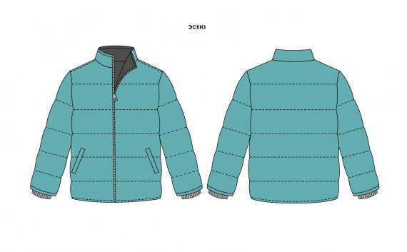 Куртка мужская с трикотажными манжетами