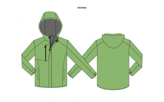 Куртка утепленная флисовым подкладом и синтепоном
